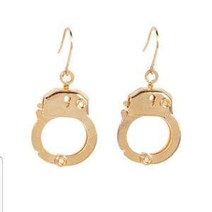 Gold handcuff earring sugar ny